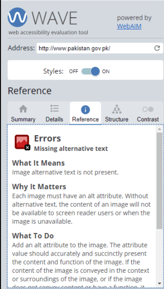 An image telling why alternative text is important. It says that without alternative text, the content of an image will not be available to screen reader users.